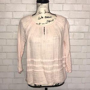 Michael Stars cotton peasant blouse